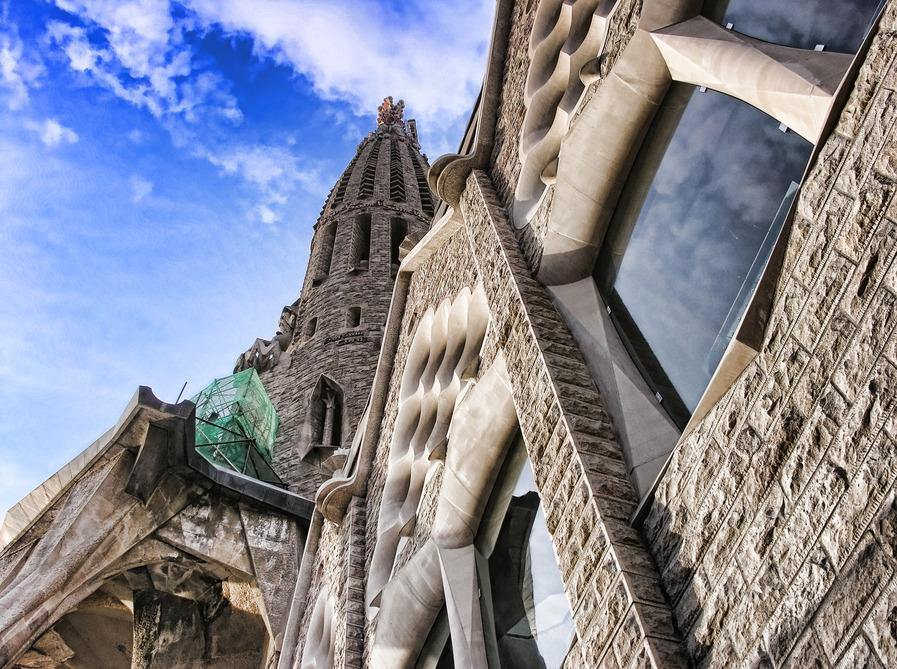The Facade of Sagrada Familia
