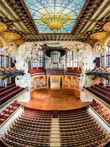 Concert Hall at the Palace of Catalan Music