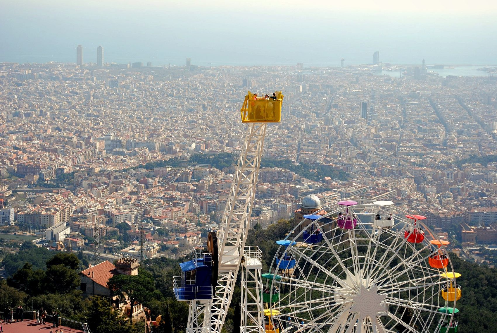 Views from Tibidabo Mountain