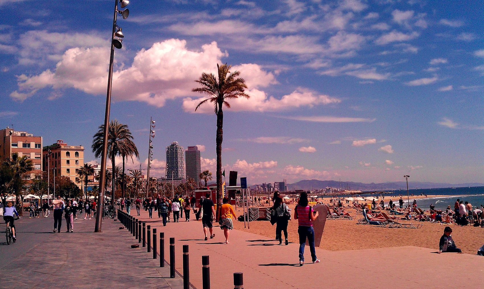 Beach in the center of Barcelona