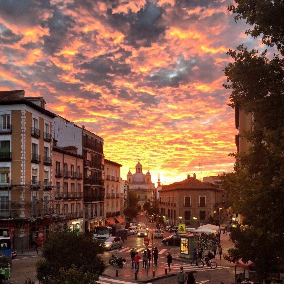 Sunset in Madrid