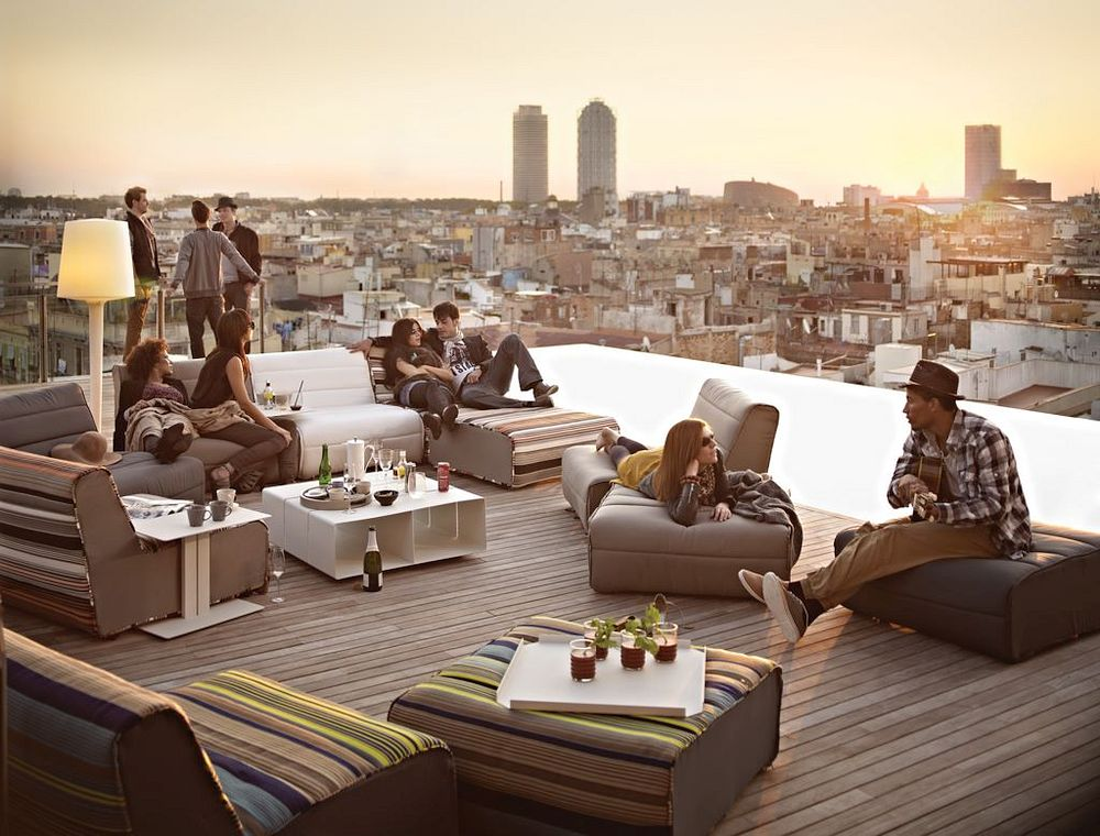 Roof party in Barcelona