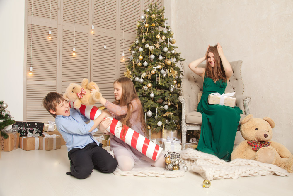 Children playing in Christmas day