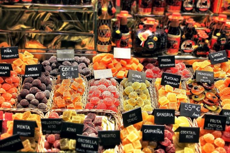 Fresh food market in Barcelona