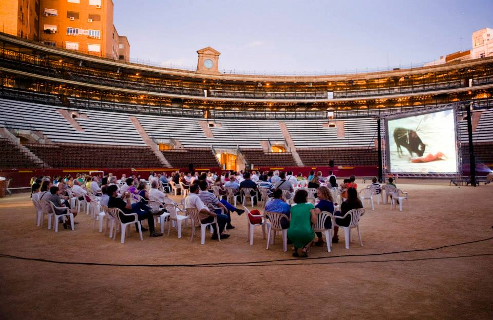 Movie night in a bullring