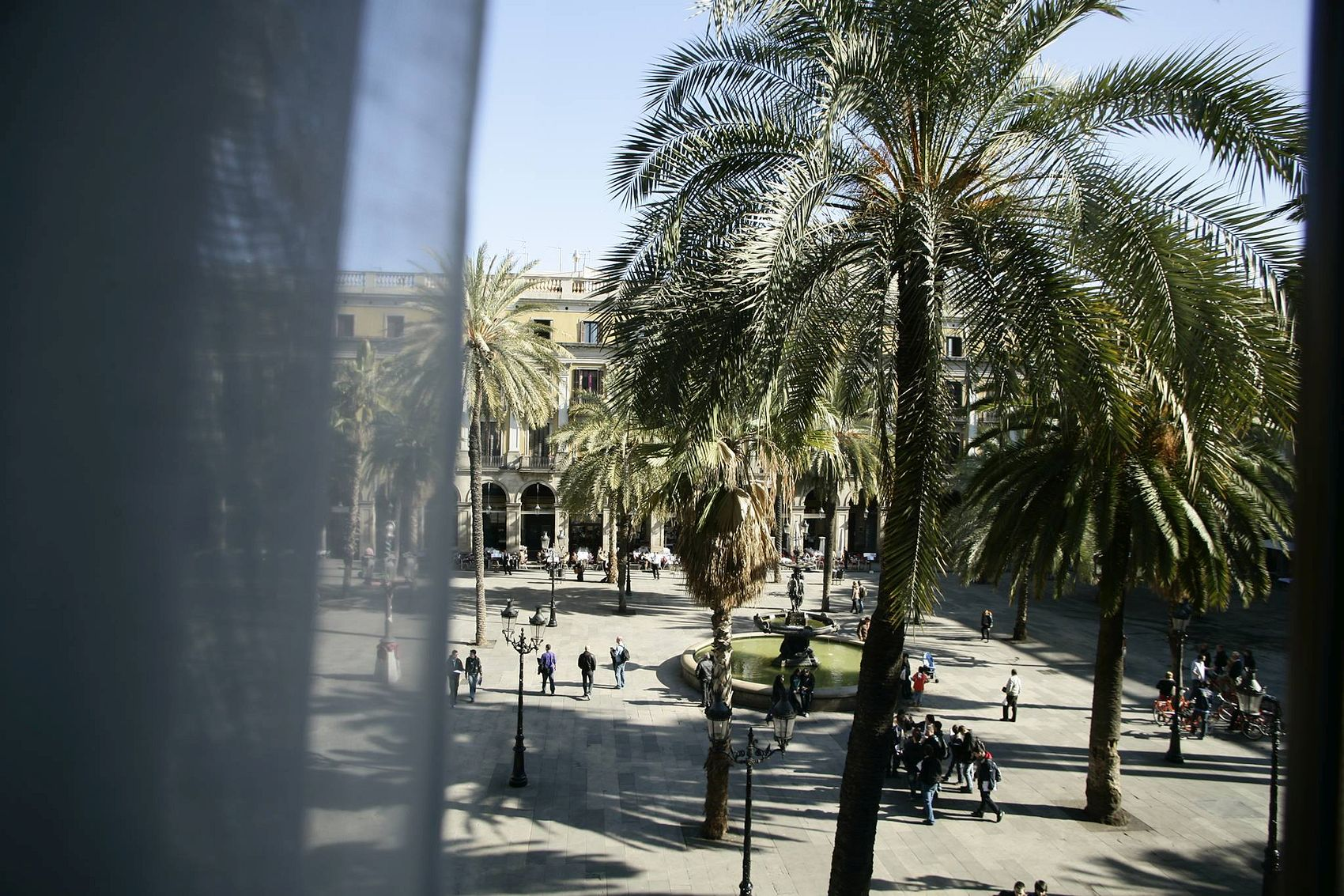 Lively Square in Barcelona
