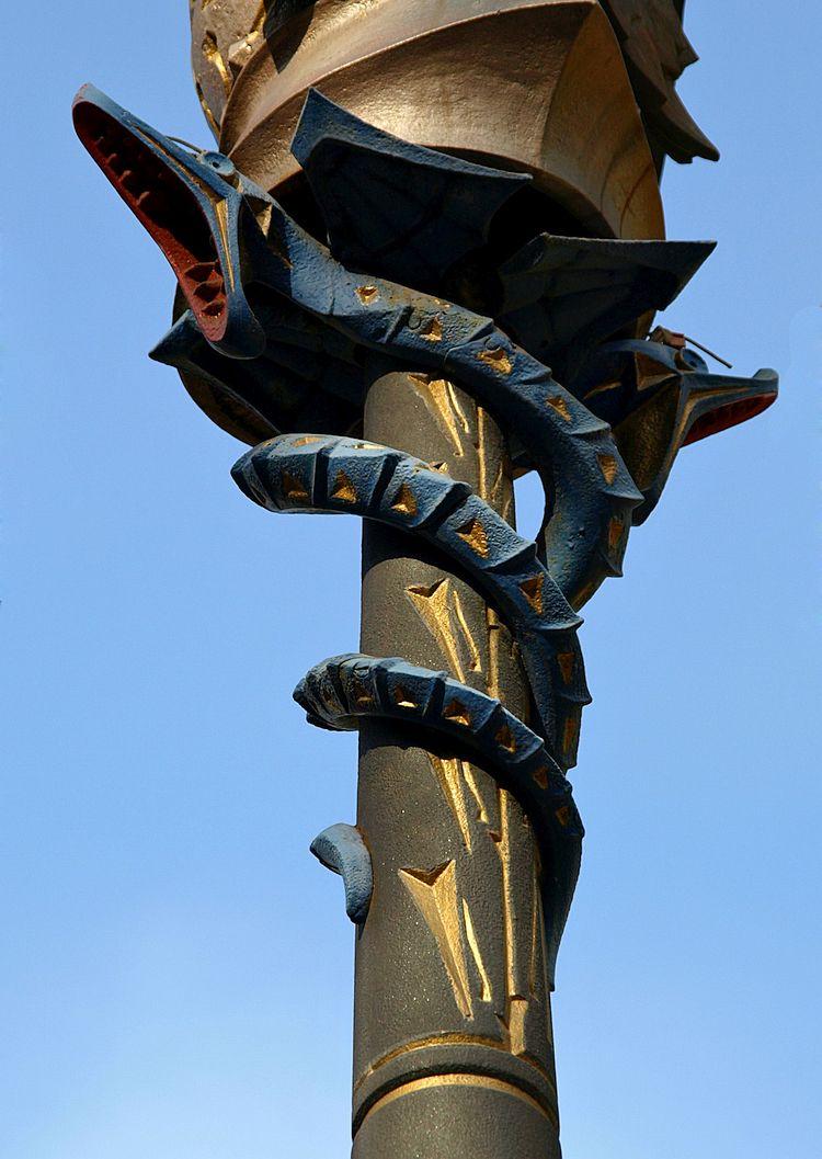 Street lamp designed by Antoni Gaudi