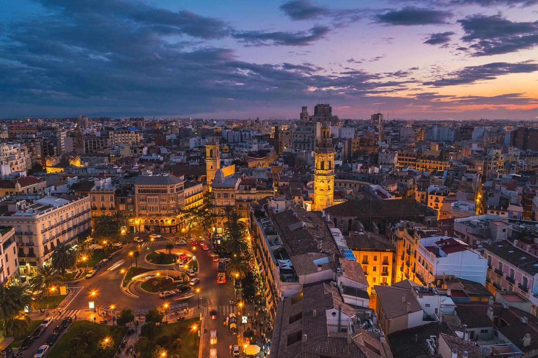 Romantic evening in Valencia