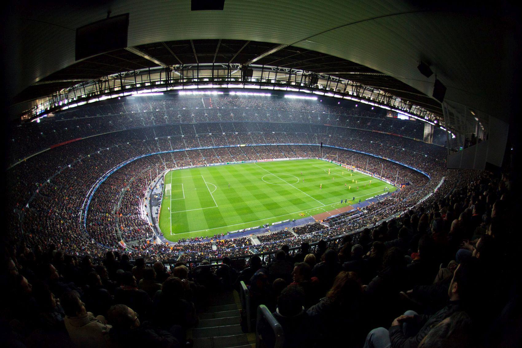 Football match on Camp Nou