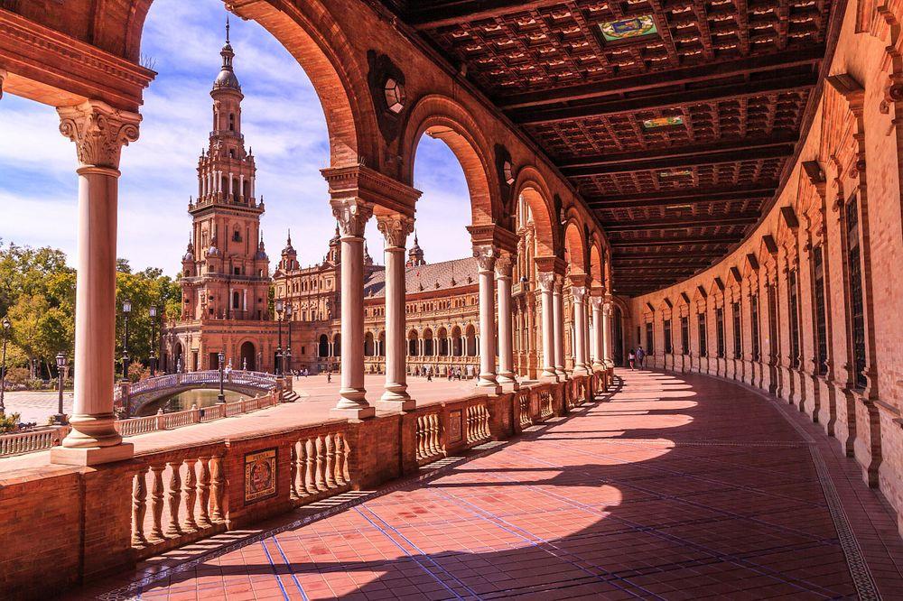 Spectacular plaza in Seville