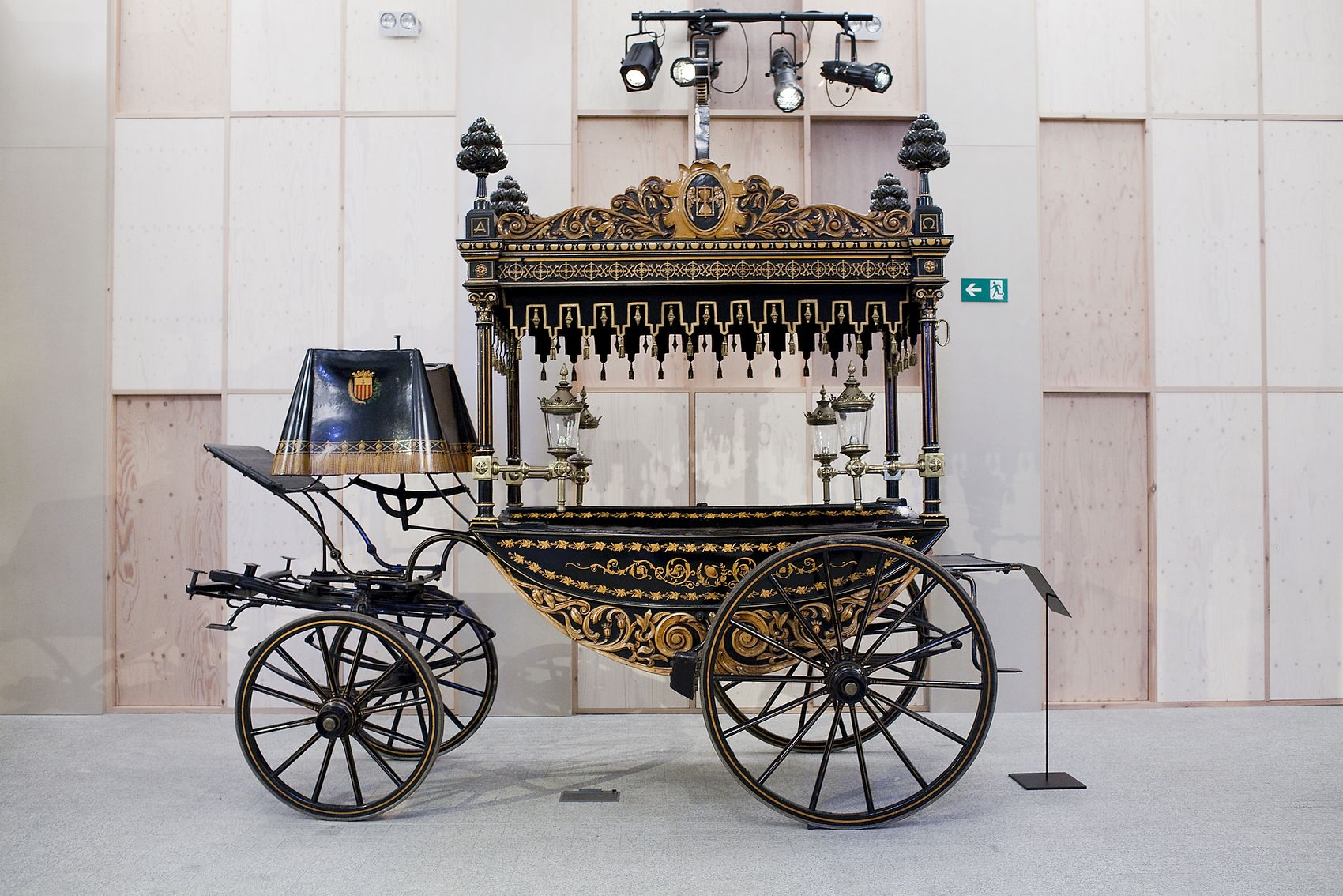 Luxury funeral carriage