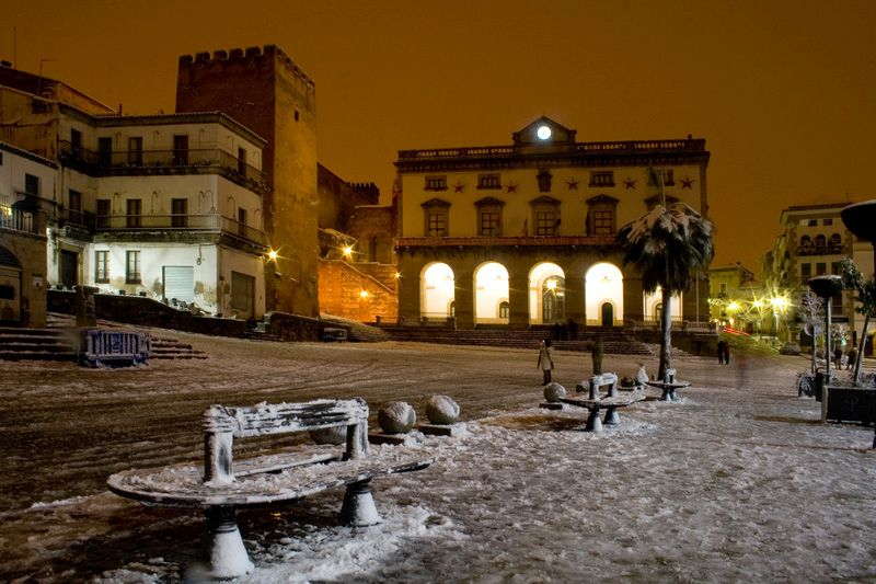 Snow in Caceres