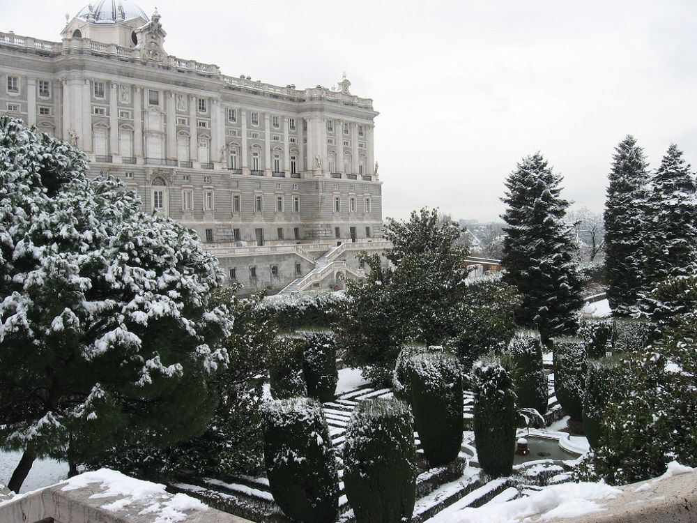Madrid Royal Palace in Snow
