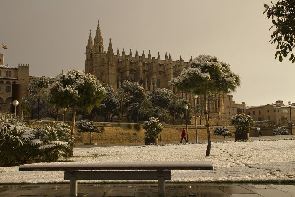 Snow in Palma de Mallorca
