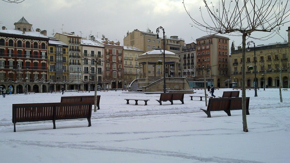 Pamplona in winter