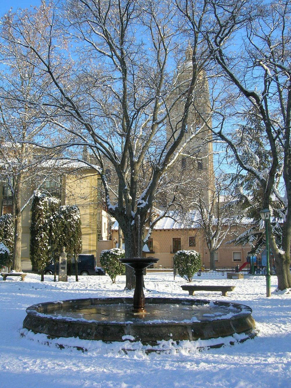 Segovia winter scene