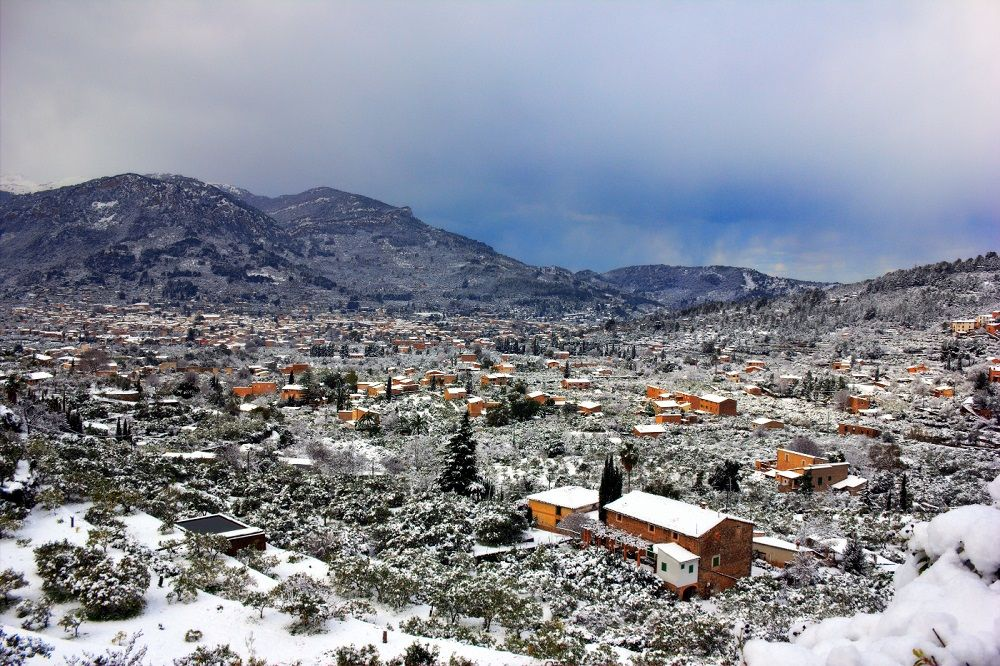 Snow in Soller, Mallorca