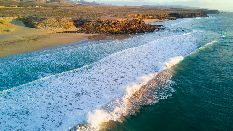 Deserted beach in Spain