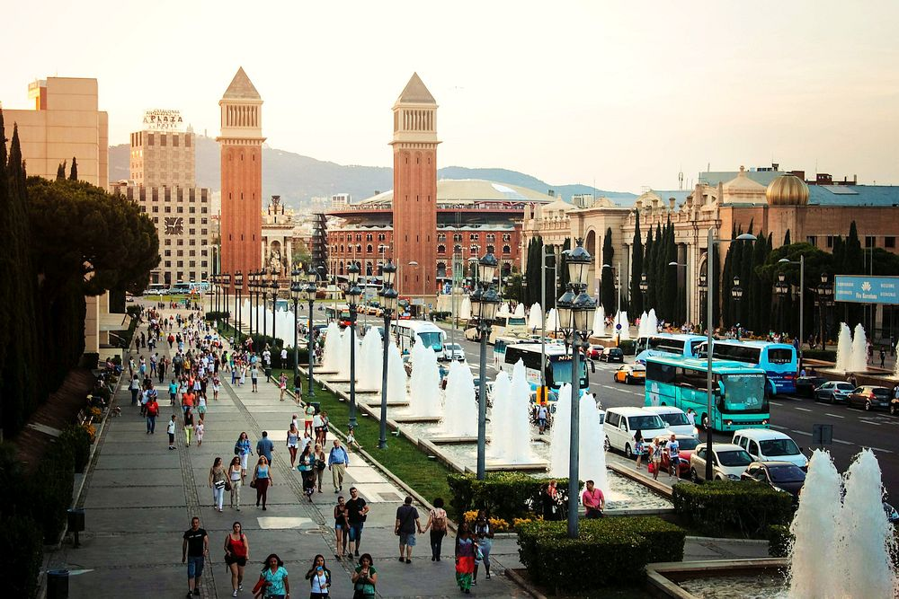 Avenue in Barcelona