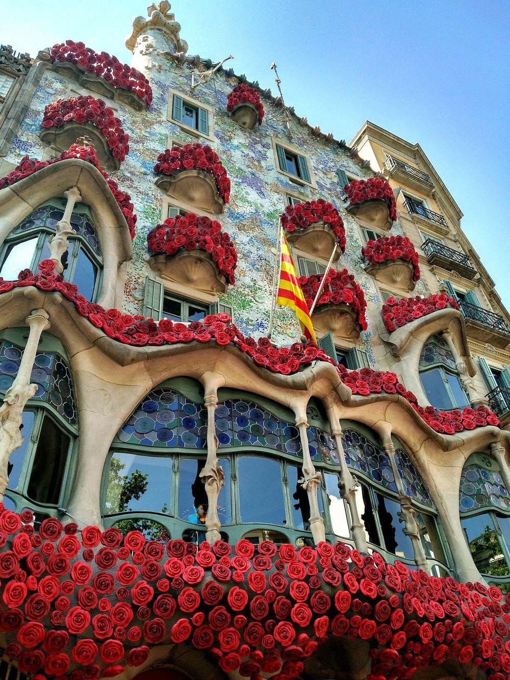 Modernista building in Barcelona