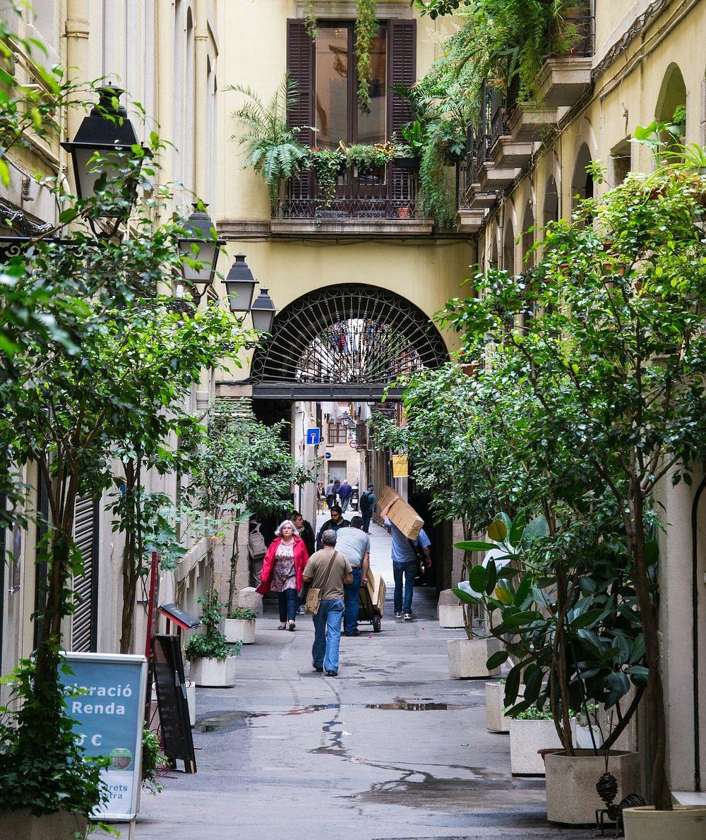 Old Street in Barcelona