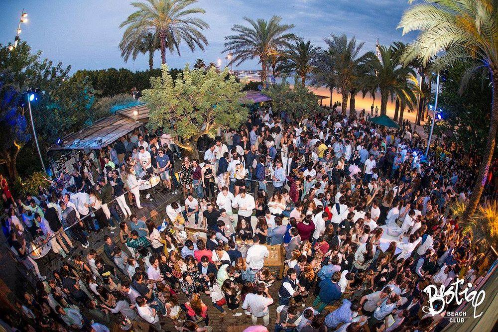 Beach club in Barcelona