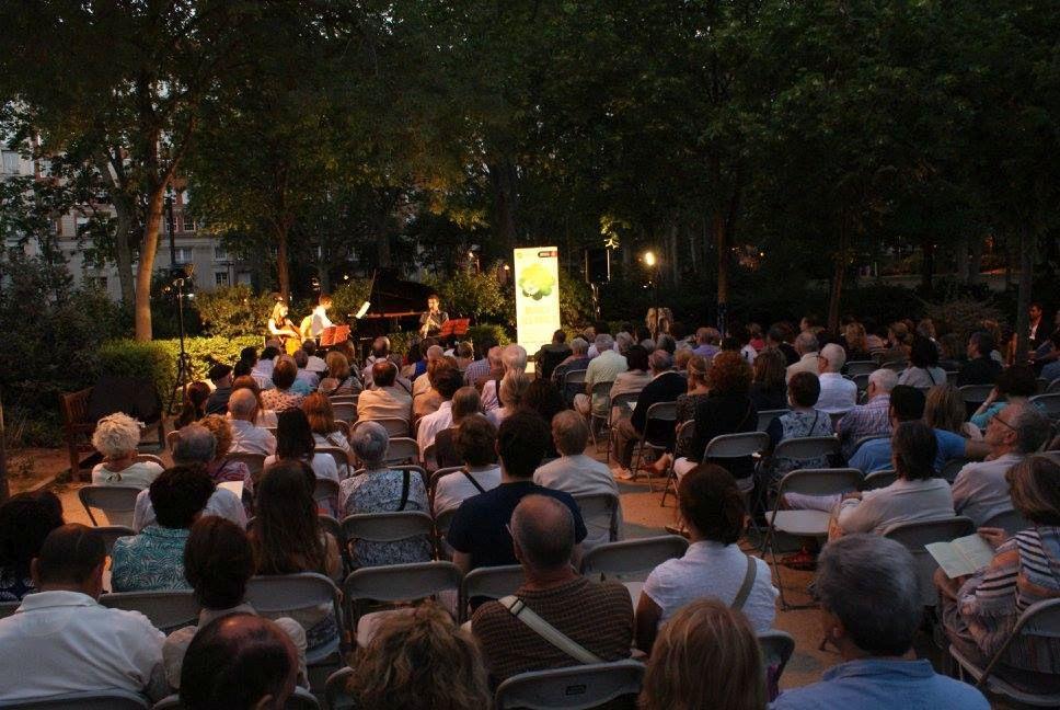 Outdoor concert in Barcelona