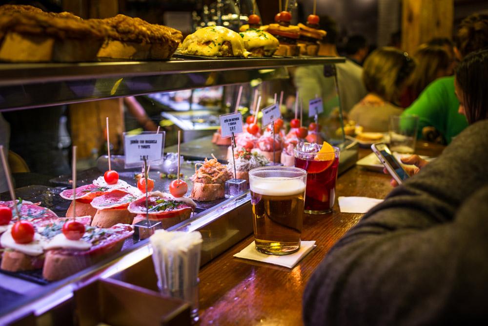 Pinchos bar in La Latina