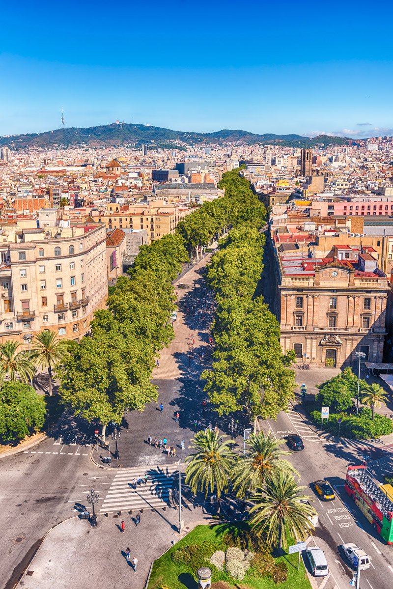 Most famous street in Barcelona