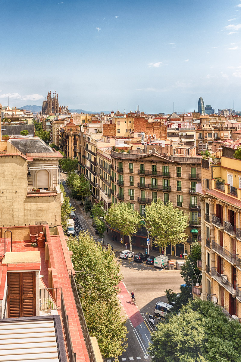 Rooftops in L'Eixample