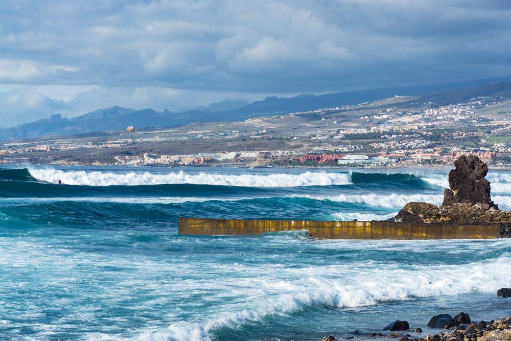 Surf spot in Tenerife