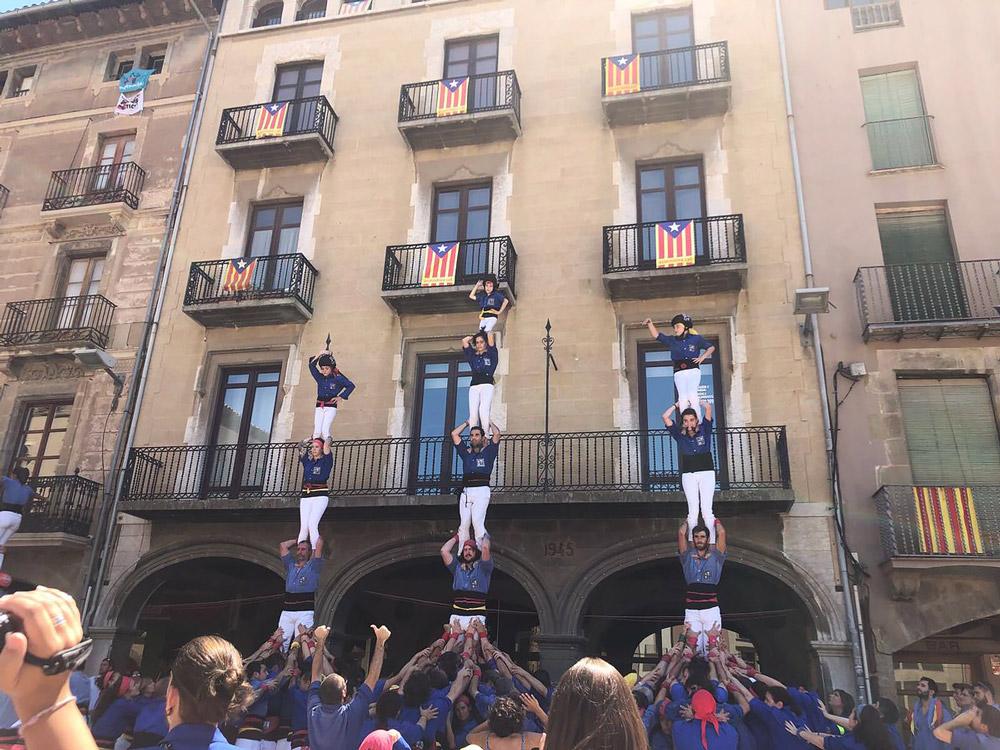 Casteller performance in Catalonia