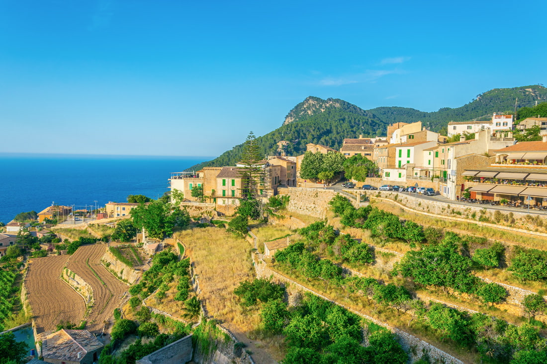 Hilltop village in Mallorca