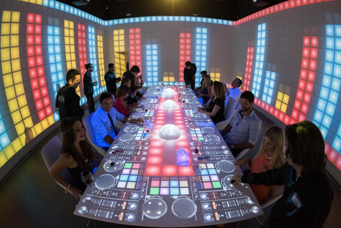 DJ-themed table