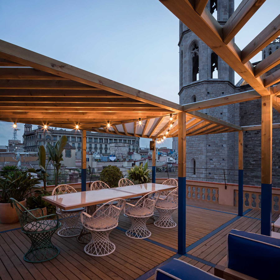 Private rooftop terrace bar in El Born