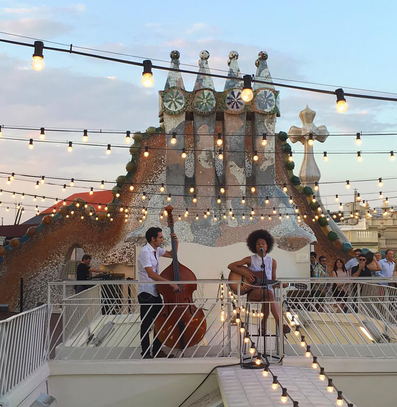 Casa Batllo's roof terrace