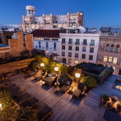 Rooftop in Barcelona