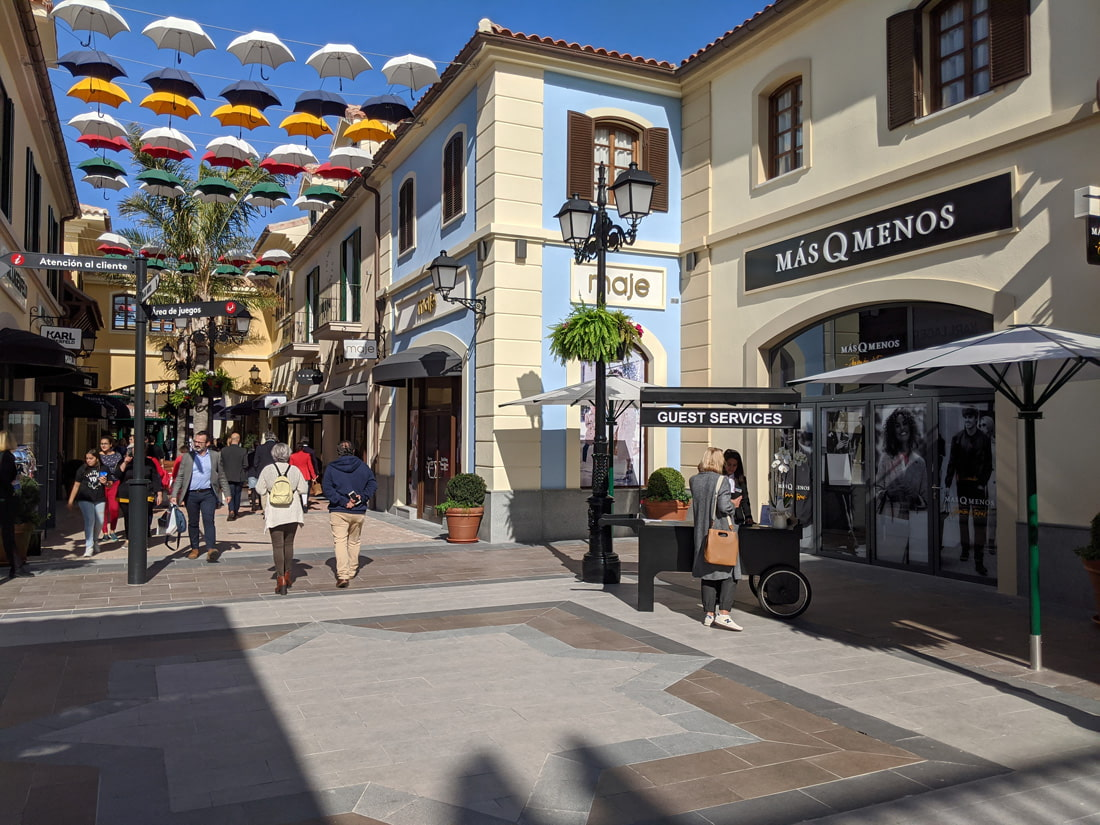 Shopping street at Malaga's Plaza Mayor