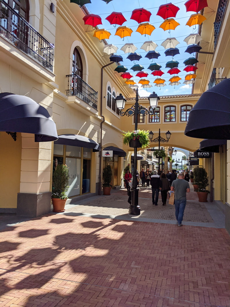Shopping village in Andalusia