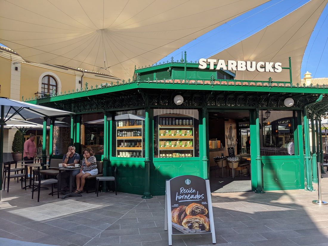 The Starbucks cafe