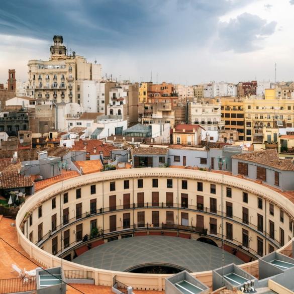 Beautiful plaza in Valencia