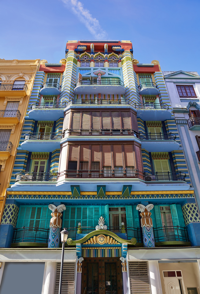 Colorful architecture in Valencia