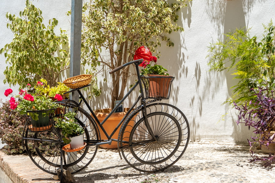 Bike with flower pots