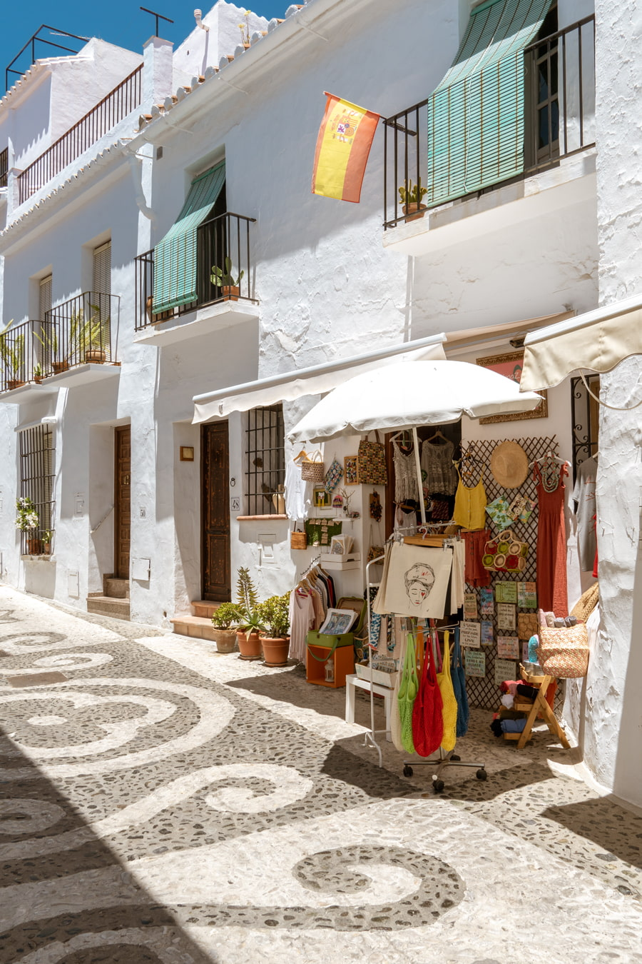 Shopping street in Frigiliana