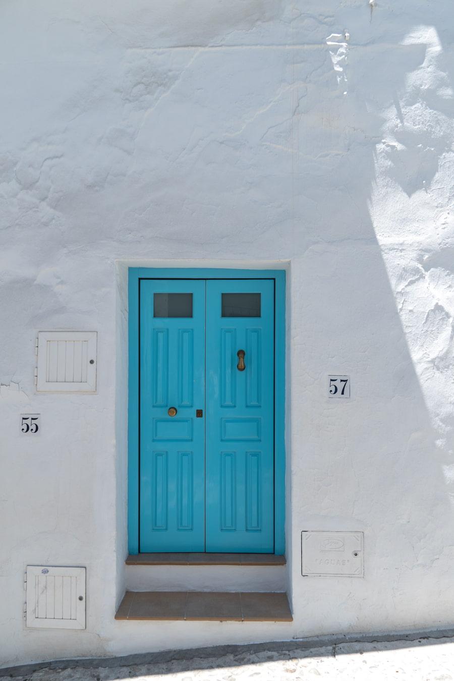 Turquoise door in Malaga