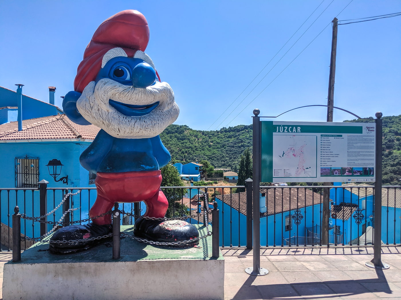 Smurfs village in Andalusia