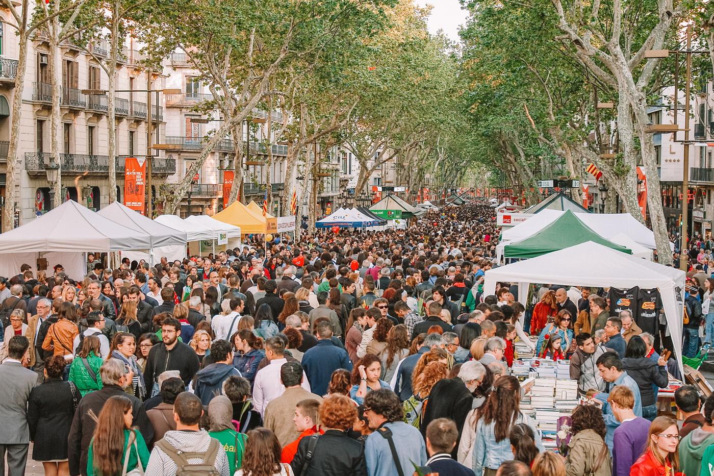 Sant Jordi Day, Barcelona