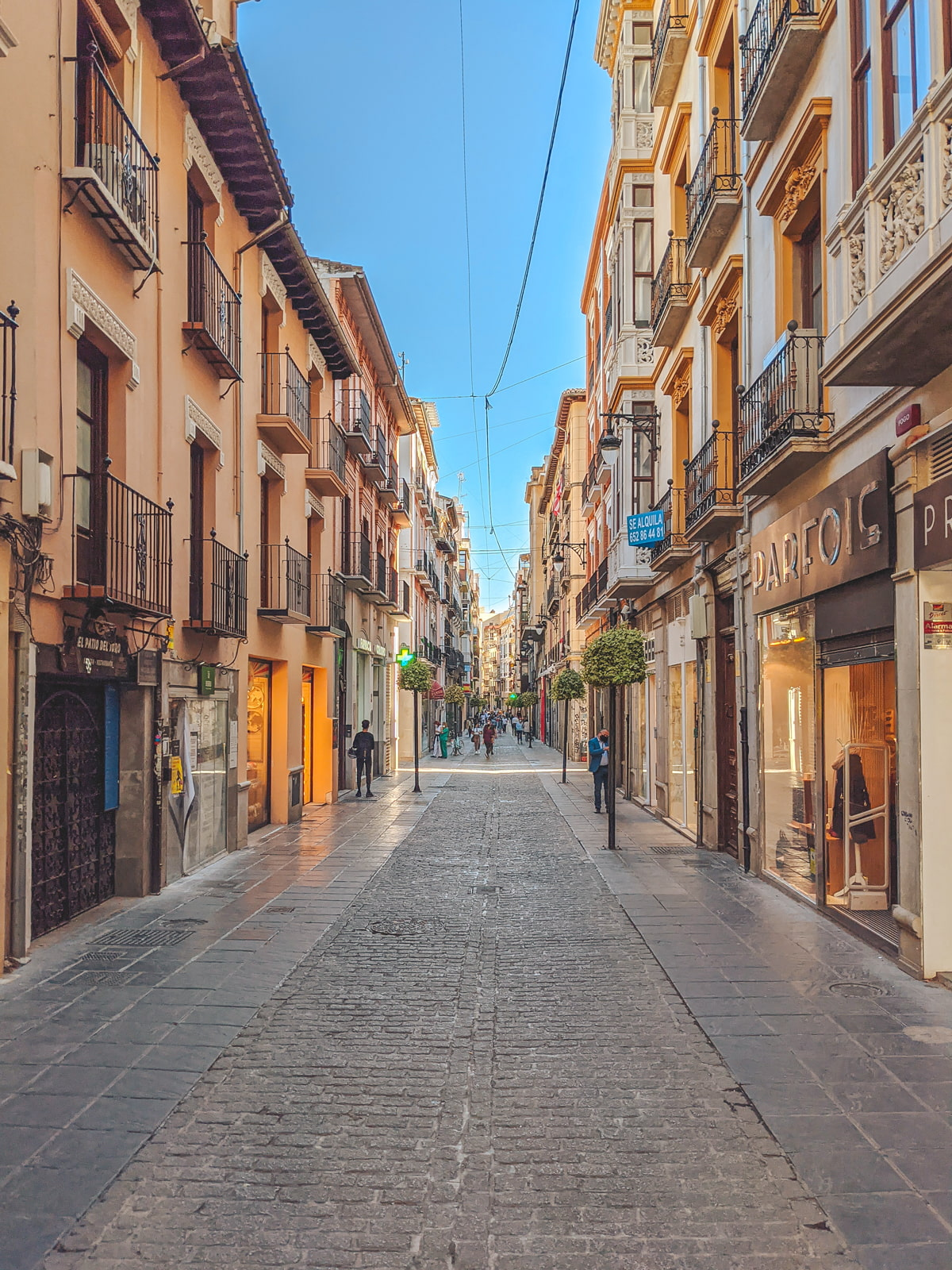 Beautiful shopping street in Granada